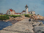 Watercolor Art - Eastern Point Lighthouse