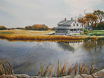 Watercolor Art - Essex House In The Fall