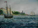 Watercolor Art - Harbor Sail