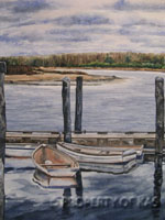 Watercolor Art - Row Boats