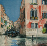 Watercolor Art - View From San Moise