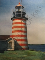 Watercolor Art - West Quoddy Lighthouse